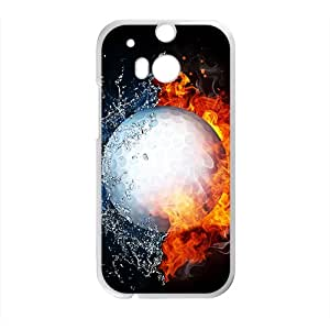 SVF Fire Water Ball Custom Protective Hard Phone Cae For HTC One M8