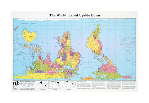 2005 Map World The world turned upside down Includes three Map |projection examples and text. 2005 Map