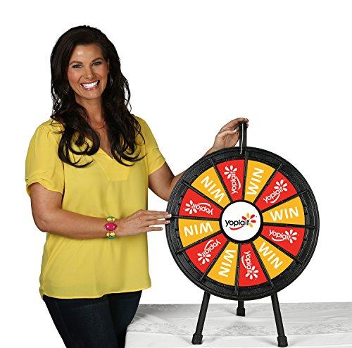 12 Slot Customizeable Tabletop Prize Wheel (20.5 Inch Diameter)