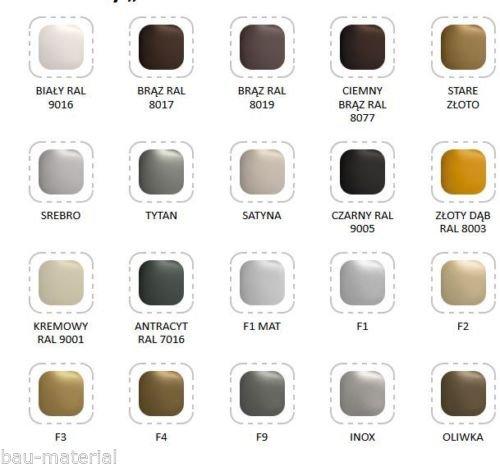 Terassent/ür-Farbe:anthrazit RAL9016-Fa.:Medos-andere Farben im Shop bei uns Balkont/ür Griff Ziehgriff Material Balkont/ürgriff ALU 2 ER SET