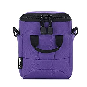 DOMISO Digital Camera Case Shoulder Bag for Compact System Mirrorless Camera SONY A6500 / CANON EOS / OLYMPUS / NIKON 1 J5 COOLPIX, Purple by DOMISO