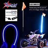 led light antenna - LED light whip TheOne quick disconnect BLUE with Upgraded Quick Connect SXS ATV UTV rzr 4 wheeler RZR Lighted Antenna Whips 5FT