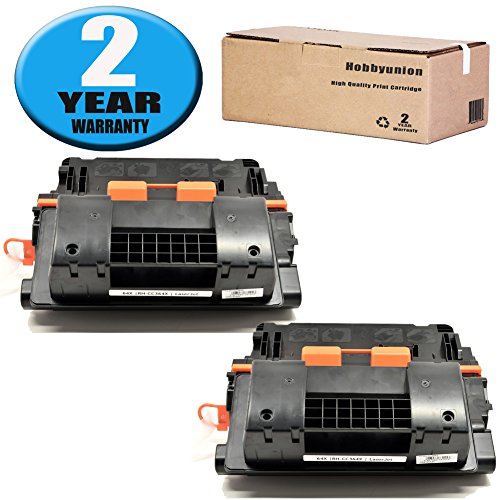 (CC364X (64X) Toner Cartridge 2 Pack Black by Hobbyunion Compatible for LaserJet P4015 P4015N P4015TN P4015X P4515 P4515N P4515TN P4515X P4515XM)