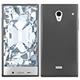 HR Wireless Sharp Aquos Crystal Frosted TPU Cover Case - Retail Packaging - Smoke