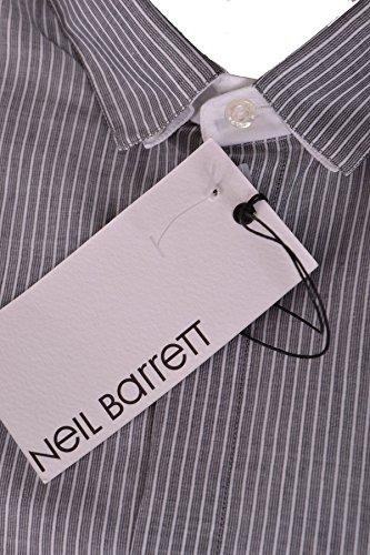 Neil Barrett Homme Mcbi220008o Gris Coton Chemise