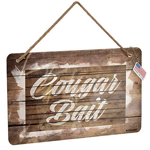 NEONBLOND Metal Sign Painted Wood Cougar Bait Christmas Wood Print