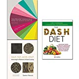 img - for Salt, Fat, Acid, Heat [hardcover], The Flavour Thesaurus [hardcover], The Dash Diet 3 Books Collection Set book / textbook / text book