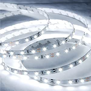 Amazon abi cool white flexible led light strip with ac adapter abi cool white flexible led light strip with ac adapter 300 leds 5 meters aloadofball Gallery