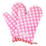Semboh Heat Resistant Oven Gloves, Silicone Waterproof Oven Mitts - Food Grade Kitchen BBQ Glove with Hot Resistance, Non-Slip Protective Pot Holder, Insulated Hot Grilling Glove for Baking, Cooking