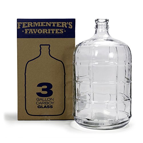Northern Brewer - Fermenter's Favorites 3 Gallons Glass Carboy Fermenter For Fermentation Of Homebrew Beer Brewing, Wine Making, Mead And Hard Cider by Northern Brewer