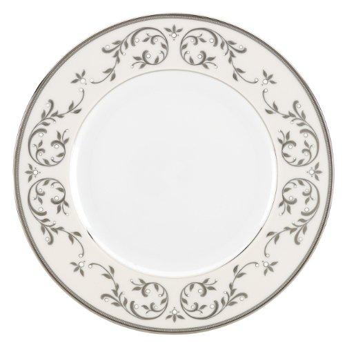 Lenox Opal Innocence Silver Dinner Plate (Plate Opal Accent Lenox Innocence)