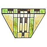 River of Goods 15049S Tiffany Style Stained Glass Cactus LED Wireless Wall Sconce 8.5
