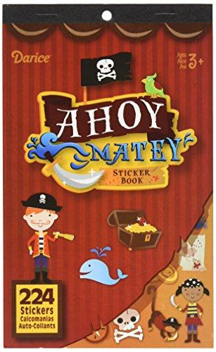 Darice 106-4038 224Piece, Pirate Ahoy Matey Theme Sticker Book ()