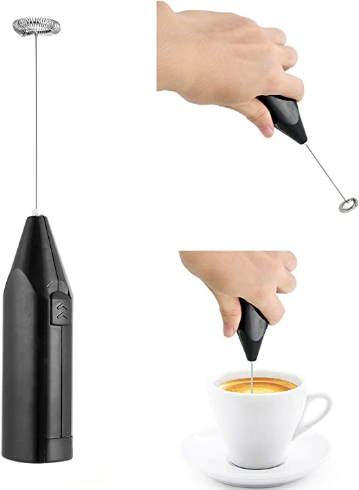 Stainless Steel Coffee Milk Drink Electric Whisk Mixer Frother Foamer Kitchen Egg Beater Handheld Kitchen Tools Plastic Frother Tool