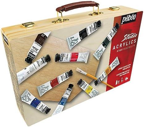 PEBEO - Juego de Pinturas acrílicas para Principiantes (en maletín ...