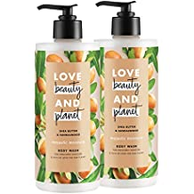 Love Beauty and Planet Majestic Moisture Body Wash, Shea Butter & Sandalwood, 16 oz, 2 count