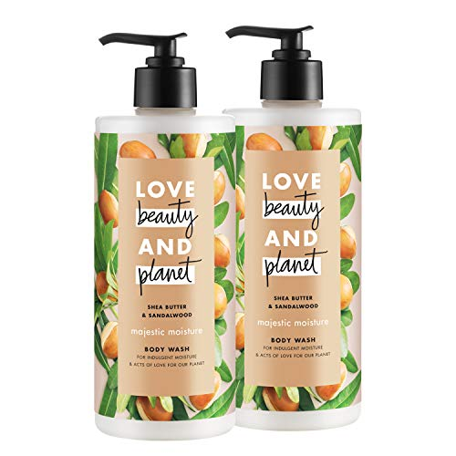 (Love Beauty and Planet Majestic Moisture Body Wash, Shea Butter & Sandalwood, 16 oz, 2)
