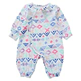 MYDABABY Unisex Romper, Baby Boys and Girls Printing Long Sleeve Cotton Romper for 0-3Y(SkyBlue Figure 60)