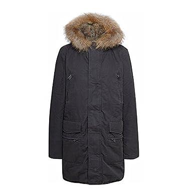 Iq berlin mantel schwarz