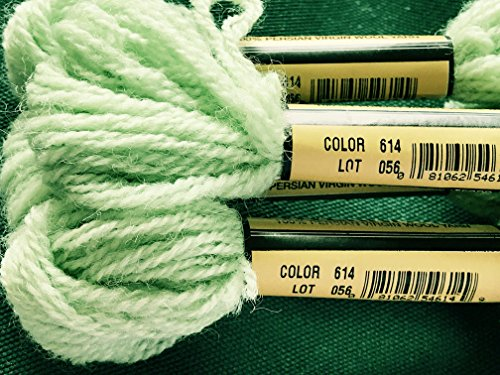Paternayan Needlepoint 3 Ply Wool Yarn Color 614 Hunter Green  This Listing Is For 2 Mini 8 Yd Skeins