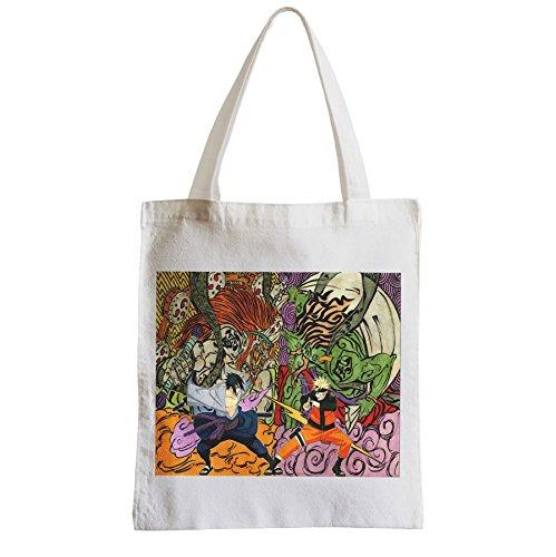 Große Tasche Sack Einkaufsbummel Strand Schüler manga Naruto Sasuke Zusammenstoß uchihua