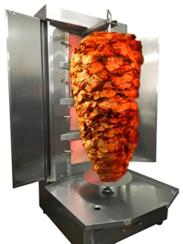 Spinning Grillers Shawarma Machine- 4 Burners- Propane Gas - Meat Capacity 45lbs