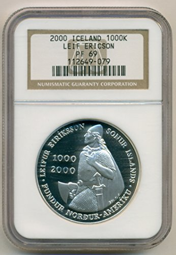 2000 IS Iceland Silver 1000 Kronur PF69 NGC