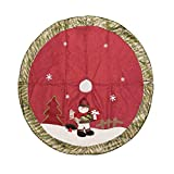 Theshy 105cm Christmas Tree Skirt Floor Mat Cover Plush Rug Party Home Decor Cushion Holiday Decor Outdoor Indoor