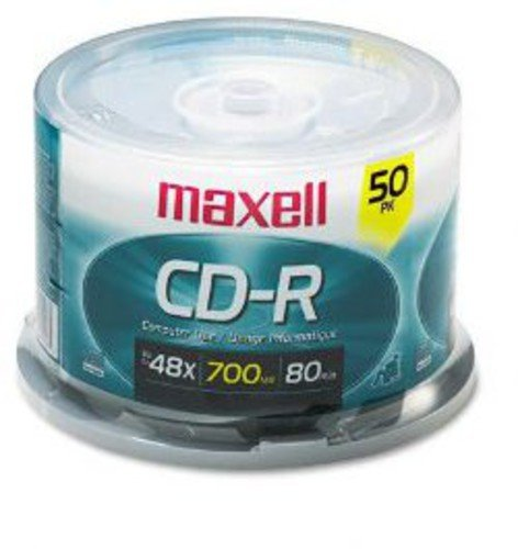 Maxell MAX648250 Branded CD Recordable Media, CD-R, 48x, 700 MB, 50 Pack Spindle for Most CD Recorders 40X Speed Certified - Pictures For Cd