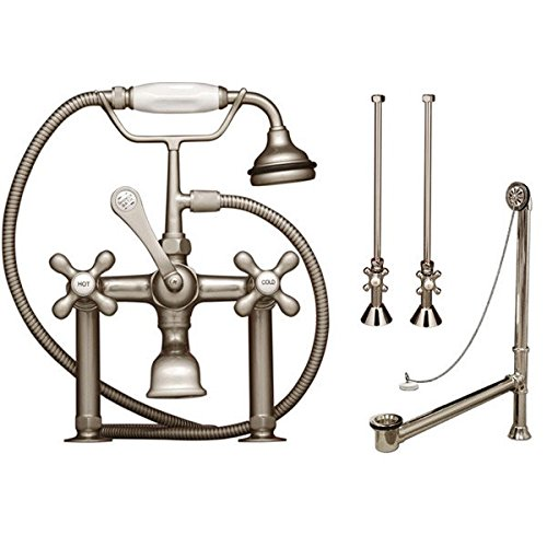 Randolph Morris Clawfoot Tub Rim Mount English Telephone Faucet - Complete - Clawfoot Rim Tub