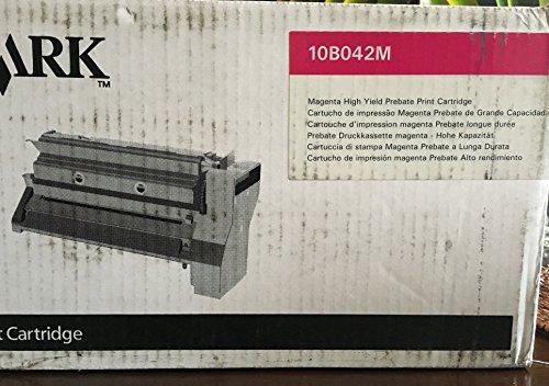 Original Lexmark (10B042M) 15000 High Yield Magenta Toner Cartridge - ()