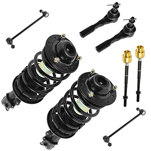 Front Sway Bar Link Tie Rod End Quick Complete Strut Spring Assembly 8pc Kit Set for Chevy Malibu Malibu Maxx Pontiac G6 Saturn Aura (Tie Set Bar Strut)
