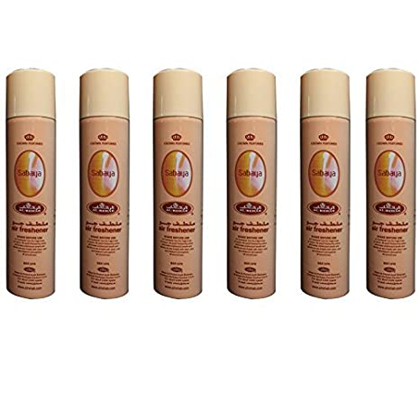 Prime Air freshener Room Spray Scent Perfume For Home/Car/Office 300 ML  Pack of 6 Pcs From UAE and Saudia Arabia (300ml, Sabaya)