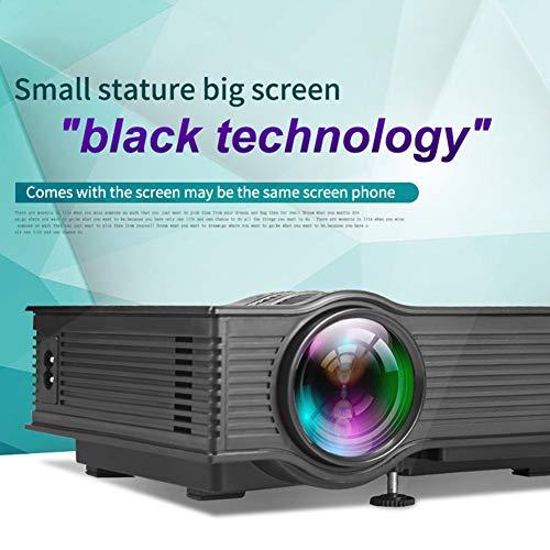 LULUKEKE Proyector, UC40 Mini proyector casero, HD Pico proyector ...