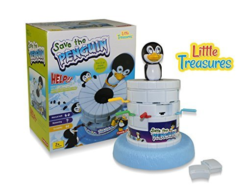 Little Treasures Penguin Ice Game, Fun Challenging Kids Game Help Save the Penguin by Taking Turns Digging Out the Ice by Little Treasures