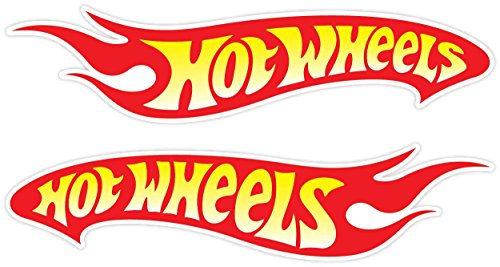 Hot Wheels Racing Vinyl Decal Sticker Set of 2(2