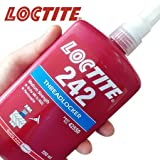 Loctite 24241 Blue 242 Medium Strength Threadlocker, 250 mL Bottle