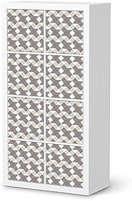 Möbel-Folie für IKEA Kallax Regal 8 Türelemente | Dekor-Folie Klebefolie  Sticker Aufkleber Möbel umgestalten | kreativ einrichten Schlafzimmer-Möbel  ...