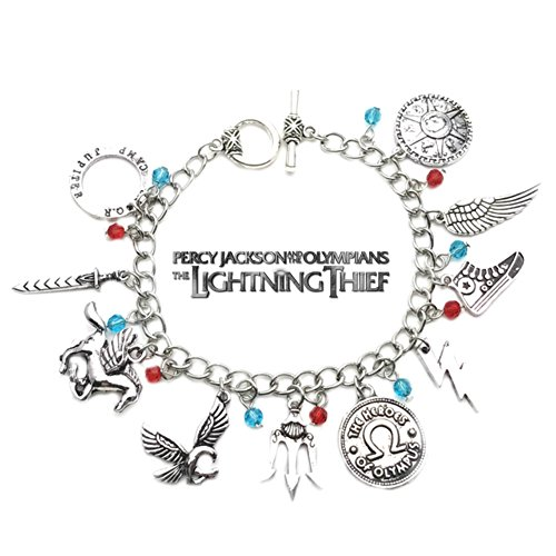 Percy Jackson and the Olympians Book Movie Theme Multi Charms Jewelry Bracelets Charm by Family Brands by US FAMILY