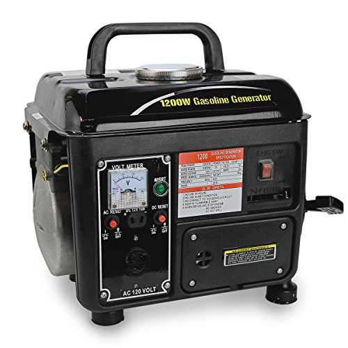XtremepowerUS 1200Watt Portable Gasoline Power Generator,Bla