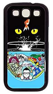 Cat Eyes Custom Samsung Galaxy S3 I9300 Case Cover Polycarbonate Black by Maris's Diaryby Maris's Diary