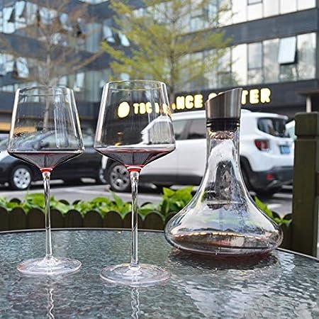 Copa De Cristal Cuadrada Hecha A Mano para El Hogar Copa De Vino De Borgoña Copa De Vino De Cristal Juego De 2 Copas De Champán (Color : Clear, Size : 550ML*2)