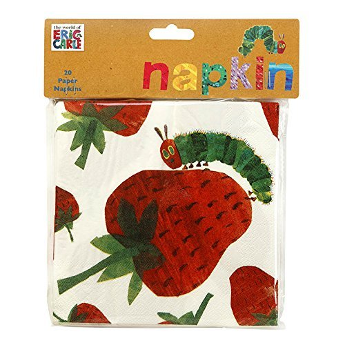 Talking Tables The Very Hungry Caterpillar Paper Napkins (40 Pack), 13 Inch, Multicolor ...]()