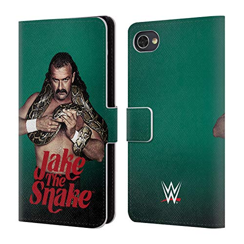 Official WWE Profile Shot Jake The Snake Roberts Leather Book Wallet Case Cover for BlackBerry Motion