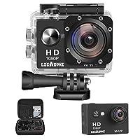 Legazone WIFI 2.0 '' 12MP HD 1080P 170Wide Cámara para deportes Acción DV + Bolsa de transporte a prueba de golpes Casco a prueba de agua Videocámara