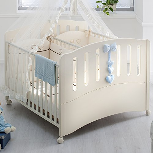 Zwillingszimmer baby  Zwillingsbett Doppelbett Gemini 2 Schlafplätze + Seitengitter ...
