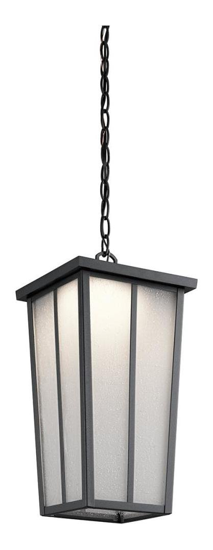 Textured Black Amber Valley Led Outdoor Pendant by Kichler