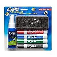 EXPO 80653 Juego de borrado en seco de bajo olor, punta de cincel, colores surtidos, 6 piezas