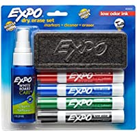 EXPO Low-Odor Dry Erase Set, Chisel Tip, Assorted Colors,...
