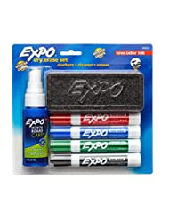 EXPO Low-Odor Dry Erase Set, Chisel Tip, Assorted Colors, 6-P...